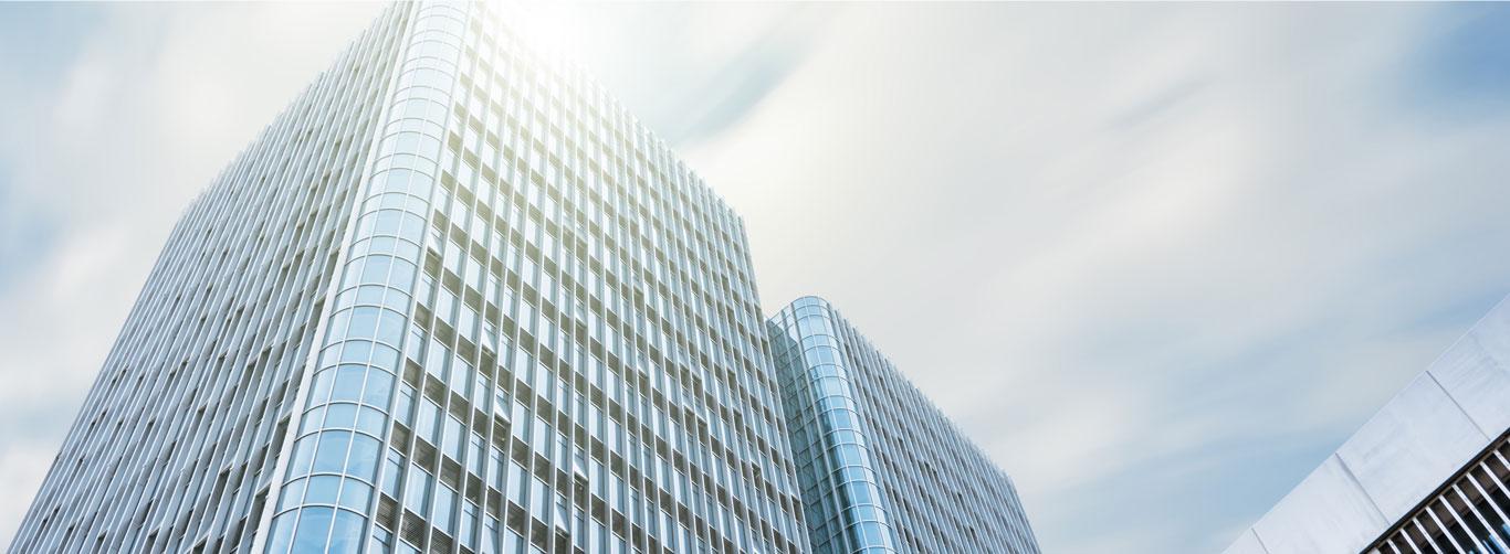 Edificios skyline de fondo del slide