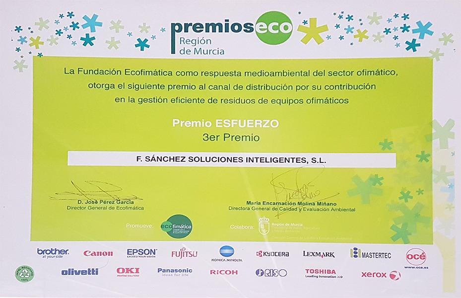 Premio eco al esfuerzo Región de Murcia
